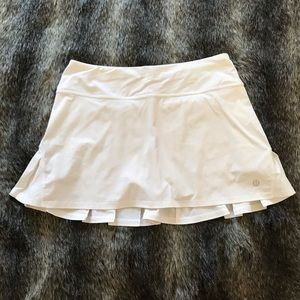 Lululemon white speed skirt